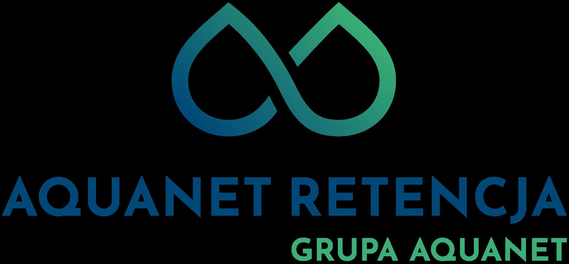 logotyp spółki Aquanet Retencja Grupa Kapitałowa